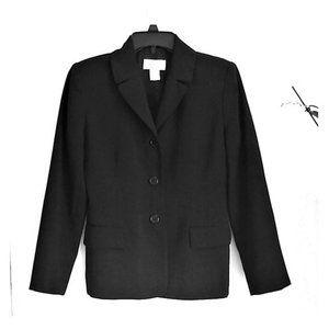 Casual Corner Classic Black Blazer Jacket 4